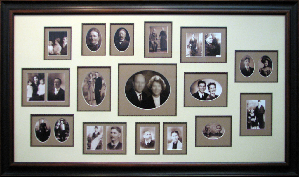 Family Heritage Collage / Shadow Box Frames - Noel Flynn Gallery