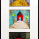 childrens art collage frame