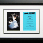 wedding collage with photo and invitation