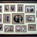family tree collage frame with fillets around each opening