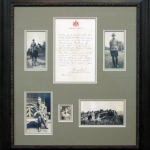 WWI military colloage mat and frame