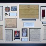civil war memorabilia collage frame