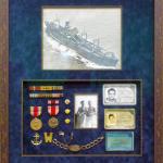 military memorabilia frame